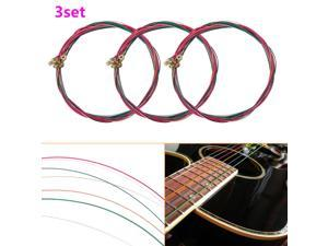 Colorful Steel Material Guitar String E-A For Acoustic Folk Musical Guitar