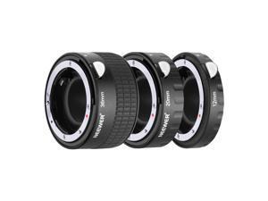Neewer Metal Auto Focus AF Macro Extension Tube Set 12mm,20mm,36mm for Nikon AF,AF-S Lens DSLR Camera,Such as D7200 D7100 D7000 D5500 D5300 D5200 D5100 D5000 D3300 D3200 D3100 D3000 D700 D600 D500