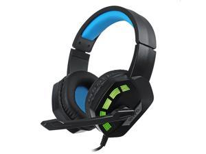 M1 Gaming Headset Surround Sound Music Earphones USB 7.1 & 3.5mm Wired RGB Backlight Game Headphones with Mic-Blue/USB