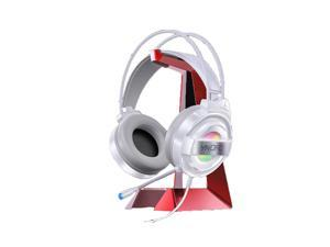 Yindiao Q3 Gaming Headset 50mm Drive 7.1 Channel Colorful LED Light Virtual Surround Sound Double 3.5mm Interface with Microphone Headphone-White