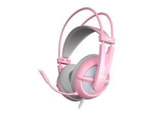 Somic G238 Pink Gaming Headset 7.1  Virtual Surround Sound Headphone 40mm HIFI Sound Effect LED Light Noise Reduction Microphone