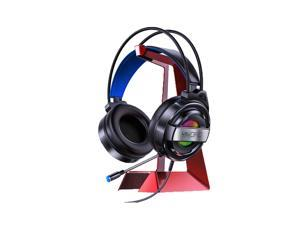 Yindiao Q3 Gaming Headset 50mm Drive 7.1 Channel Colorful LED Light Virtual Surround Sound Double 3.5mm Interface with Microphone Headphone-Black