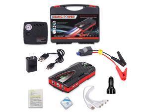 99800mAh Digital Display Car Jump Starter Car Vehicle Emergency Battery Auto Booster Battery Starter Power Bank Powerful LED Light-D