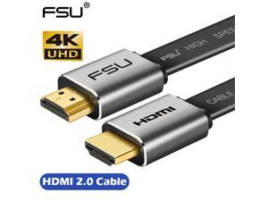 FSU HDMI Cable 4K*2K Male to Male 3D 1080P HD Adapter Cable for Monitor Computer TV PS3/4 Projector-1.5M