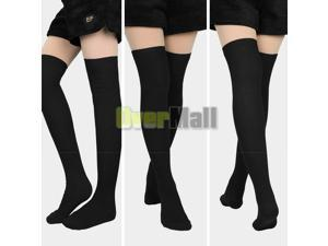 3Pairs Women Long Knit Over The Knee Boot Socks Thigh-High Leg Warmers Stocking