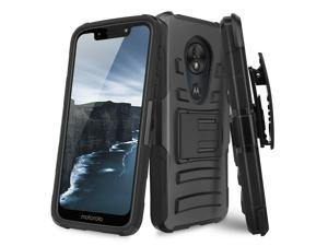 For  Moto G7 Play/G7 Optimo Rugged Phone Case Cover Belt Clip Holster