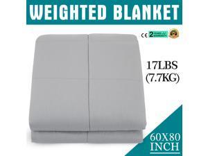 """Weighted Blanket 60x80"""" 15/17/20 Lbs Heavy Sensory Blanket Natural Deep Sleep"""