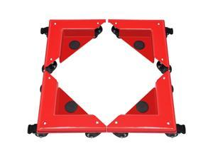 Furniture Dolly Corner Moving Dolly 1380Lbs Desk Cabinet Moving Cart 4-Pack Red