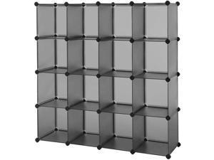 Cube Storage 16-Cube Book Shelf Shelving Closet Organizer Rack DIY Wardrobe US