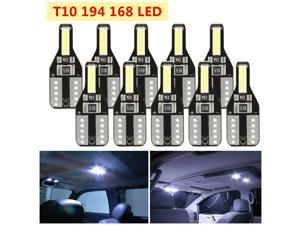 10pcs T10 194 168 W5W LED CANBUS License Plate Interior Wedge Light Bulbs White