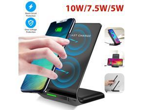 Qi Wireless Fast Charger Charging Stand Pad Dock for  S10 S9 iPhone 12 11