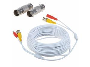 60ft Power Video Security Camera BNC Cable CCTV Wire Cord w/ Extension Connector