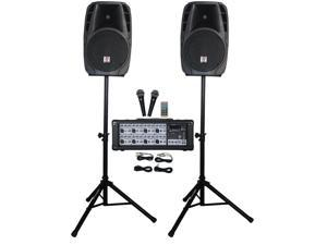 """12"""" Church Speakers+Mixer+Stands+Mics+Bluetooth 4 Church Sound Systems"""