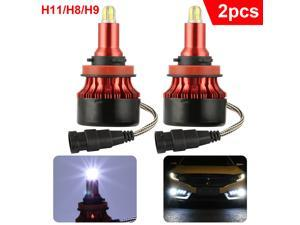 8 Sides H9 H8 H11 LED Headlight MINI Bulb 3500W 300000LM Lights 6000K Xenon COB