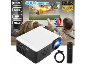Portable Mini Projector YG210 HD LED Home Theater Cinema 1080p AV USB TF SD HDMI