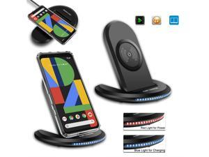 For Google Pixel 4/4 XL 3/3 XL Qi Wireless Fast Charger Charging Stand Dock Pad