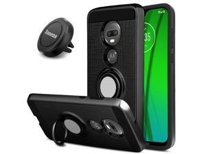 For  Moto G7 / G7 Plus Case With Ring Holder Stand / Magnetic Vent Mount