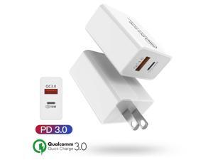 18W Fast Quick Wall Charger PD/QC Adapter USB-C For iPhone 12 Pro Max,Mini,11,XS