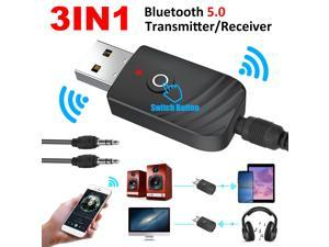 Bluetooth 5.0 Receiver Wireless 3.5mmJack AUX NFC to 2 RCA Audio Stereo Adapter