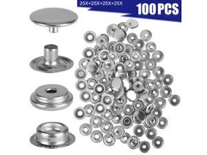 100 X Stainless Steel Fastener Snap Press Stud Cap Button Marine Boat Canvas Set
