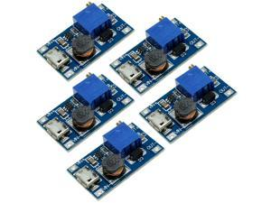 5pcs DC-DC Micro-USB Step Up Boost Module 2-24V IN 5-28V Output Power Converter