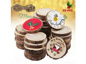 Wooden Wood Log Slices Natural Tree Bark Round Shape Tableware Decor Wedding
