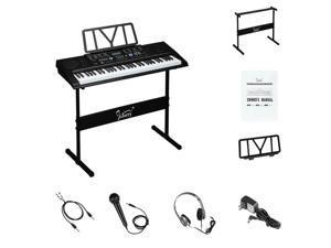 61 Key Adlut Music Electronic Keyboard Digital Piano Organ w/Stand Xmas Gift