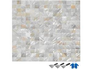 Shell Mosaic Tile Mother of Pearl Tile For Bathroom Kitchen Backsplash 11Sq Feet