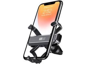 ROMOSS Car Phone Holder, Air Vent Car Phone Mount, Adjustable Mobile Phone Cradle for Car with Auto Release for iPhone SE/11Pro Max/11Pro/11/XS Max/XS/Xr/X/8S/8/7/6, Galaxy S20/S10/S9/S8, Black
