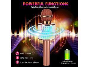 Wireless Karaoke Microphone Speaker Handheld Bluetooth KTV Player Mic Home Party