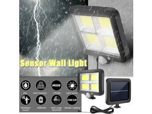 Commercial 128 COB Solar Street Light IP65 Waterproof Dusk to Dawn Outdoor Lamp