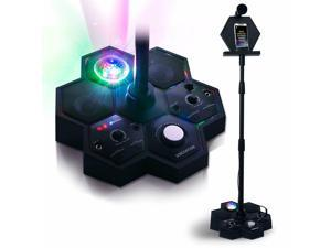 All-In-One Bluetooth Karaoke Machine System with Light Show