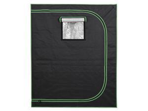 """48""""x24""""x60"""" Mylar Hydroponic Grow Tent with Observon Window and Floor Tray"""