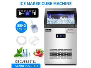 120lb Built-in Commercial Ice Maker Stainless Steel Bar Restaurant Cube Machine