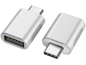 nonda USB C to USB Adapter(2 Pack)USB-C to USB 3.0 AdapterUSB Type-C to USBThunderbolt 3 to USB Female Adapter OTG for MacBook Pro 2019MacBook Air 2020iPad Pro 2020 More Type-C Devices(Silver)