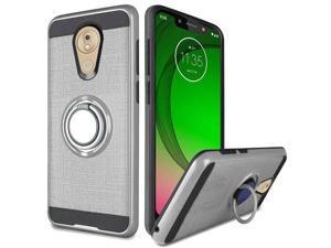 Moto G7 Optimo Slim Case Simplistic 360 Finger Ring Holder Cover