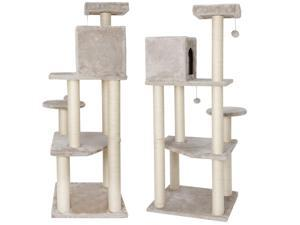 """Furniture Activity Cat Tree Condo Pet 56"""" Tower Play House with Perches"""