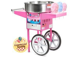 Cotton Candy Machine Cart and Electric Candy Floss Maker - Commercial Quality