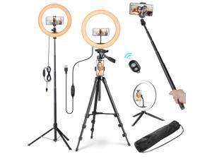 "Yescom 12"" 40W LED Ring Light Stand Kit Dimmable 3200-5500K Camera Phone Holder Photo Video Makeup Lighting"