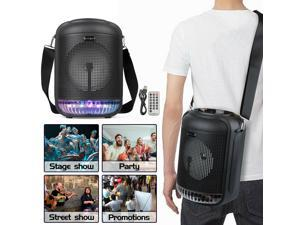 Cylindrical Wireless Bluetooth Speaker 6.5inch Boombox with Strap Remote Control