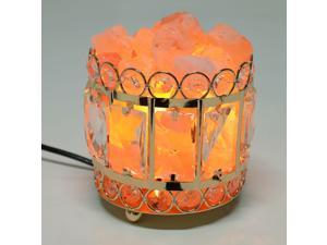 Himalayan Salt Crystal Basket Lamp Adjustable Brightness w/ Dimmer Switch Bulb