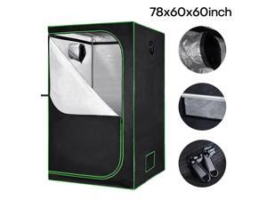 60 x 60 x 78in Grow Tent Room Hydroponic 600D Mylar Reflective Indoor Plant Box