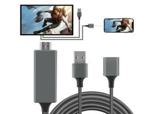 HDMI Mirroring Cable Phone to TV HDTV For iPhone 11/XS Max/7/8 Plus/iPad/Android