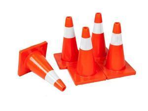 "5PCS 18"" Orange Enviro-Cone Traffic Cone Reflective Collars, 9.9 lb Weight"