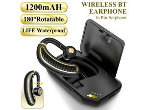 Bluetooth 5.0 Earpiece Driving Trucker Wireless Headset Earbuds Noise Cancelling