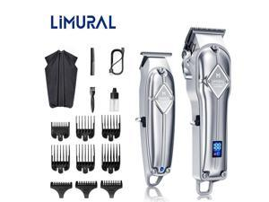 Hair Clippers for Men Cordless Hair Cutting Kit T-Blade Trimmer Kit LED Display