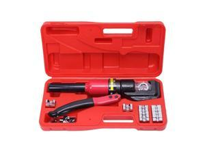 8 Ton Hydraulic Wire Battery Cable Lug Terminal Crimper Crimping Tool + Red Case
