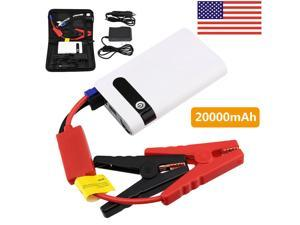 2W-mAh 12V Car Jump Starter USB Power Bank Vehicle Battery Booster Clamp w/Case