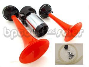 12 Volt Air Horn Dual 12V Kit Super Loud Trumpet Air Horn Car Truck Boat RV