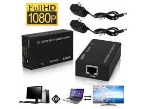 1080P HDMI Network Extender Over Single CAT 5E/6 Ethernet Cable Up to 60m 3D HD